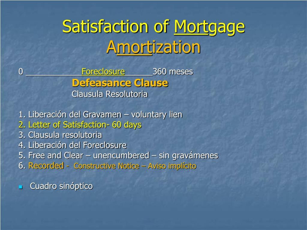 Satisfaction of