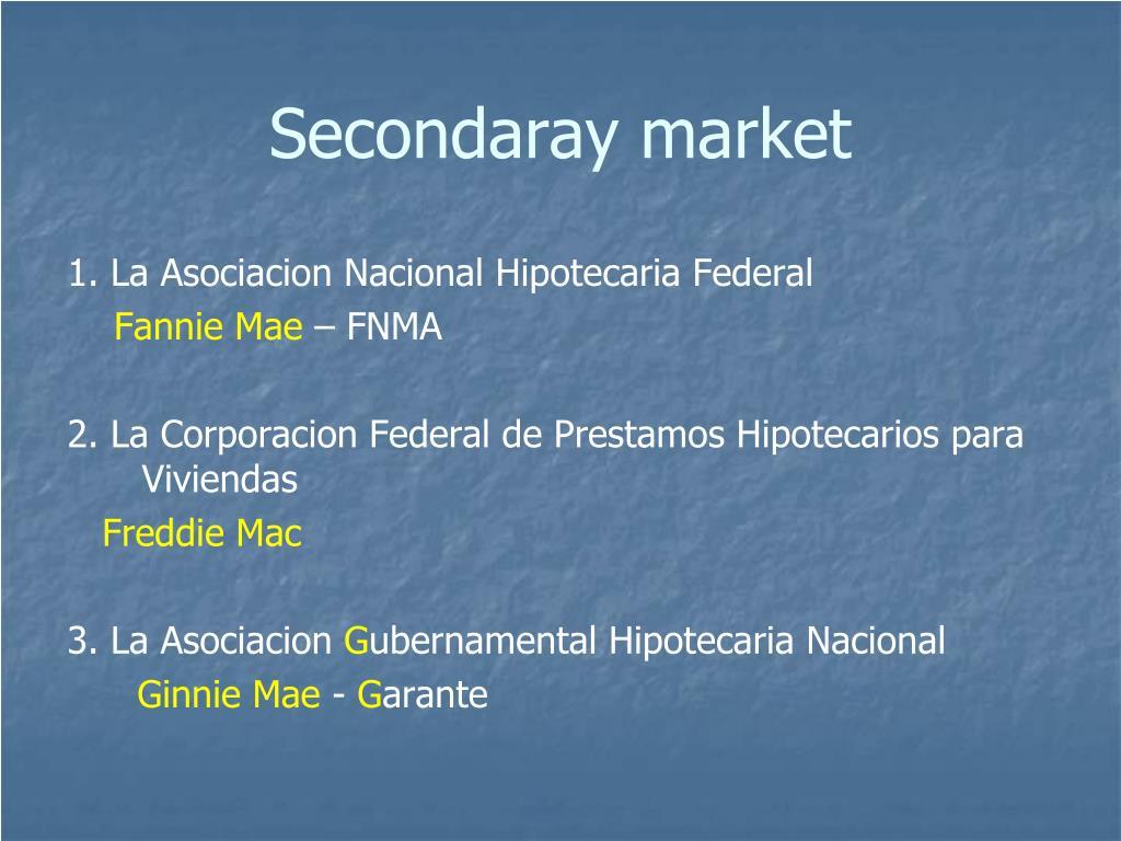 Secondaray market