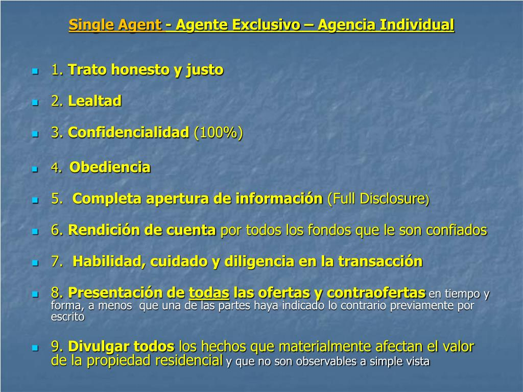 Single Agent