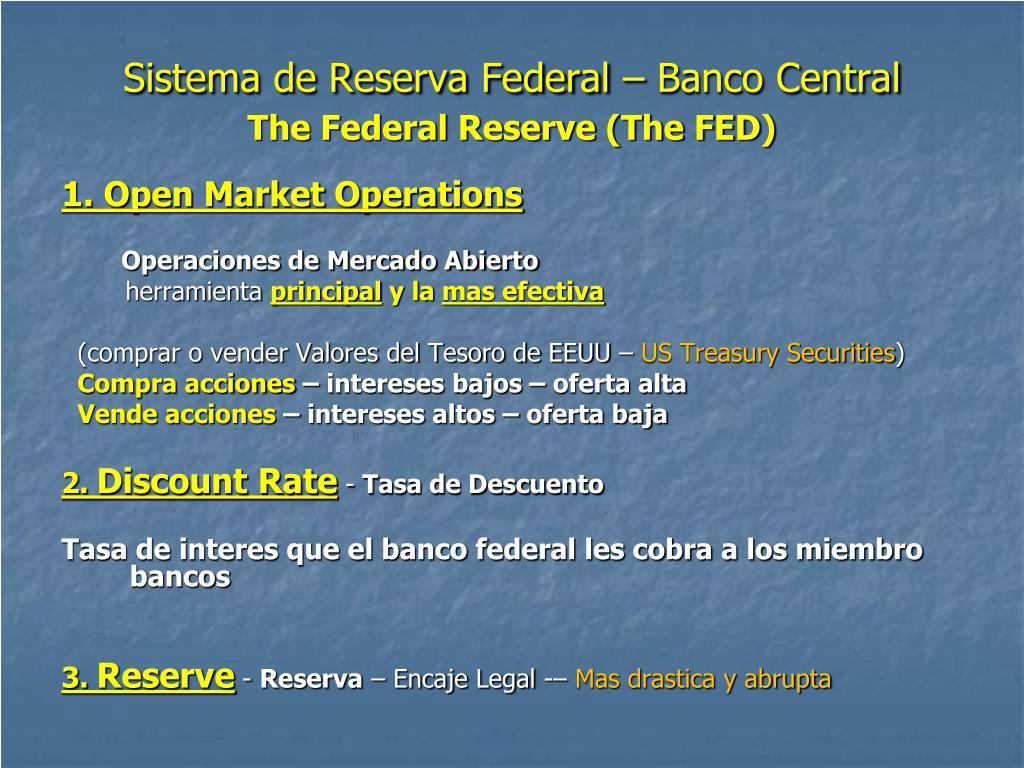 Sistema de Reserva Federal – Banco Central