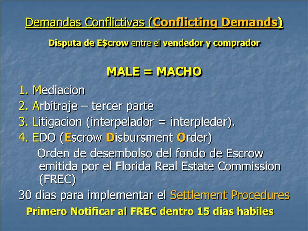 Demandas Conflictivas (