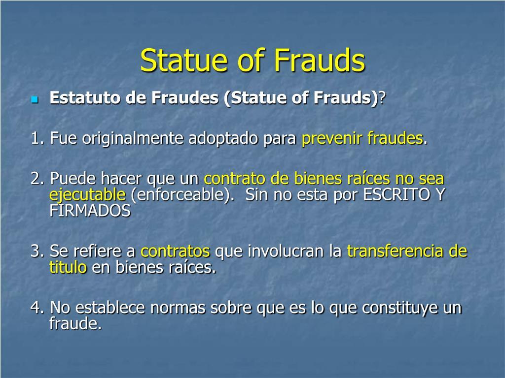 Statue of Frauds