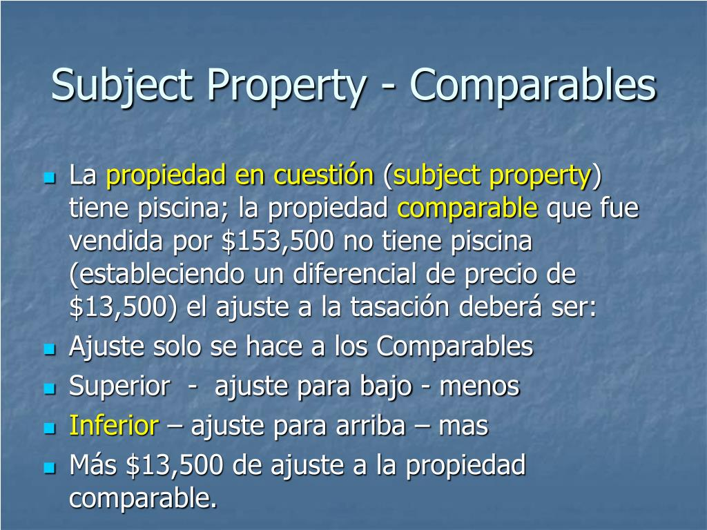 Subject Property - Comparables