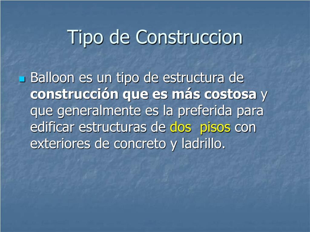 Tipo de Construccion