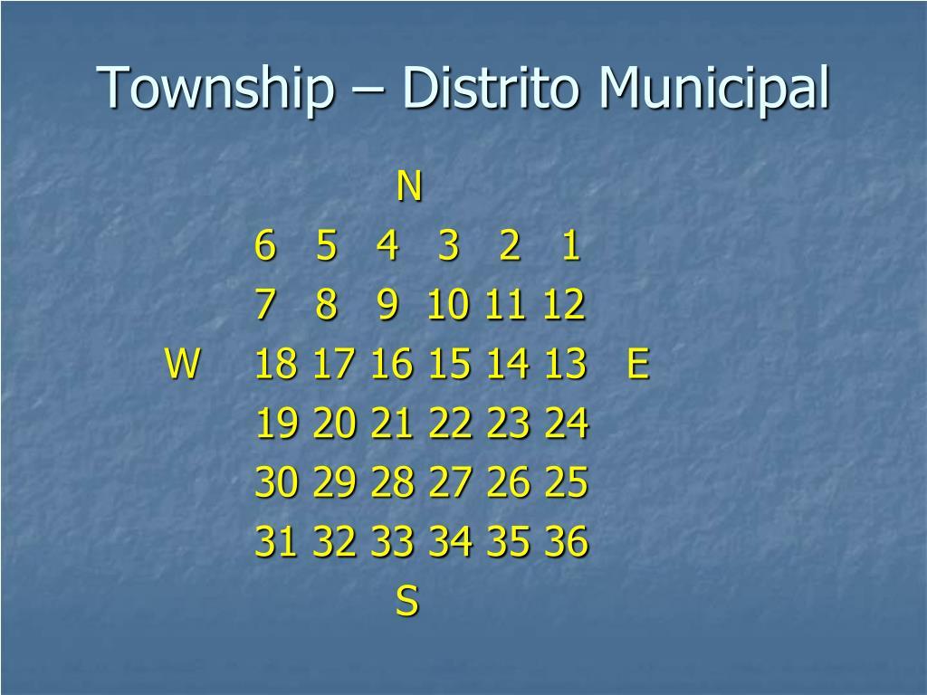 Township – Distrito Municipal