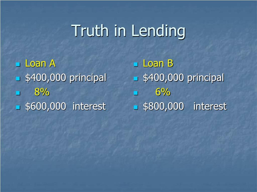 Loan A