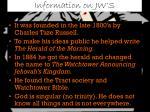 information on jw s