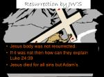 resurrection by jw s