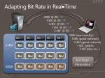 adapting bit rate in real time