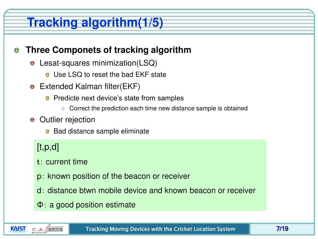 Tracking algorithm(1/5)