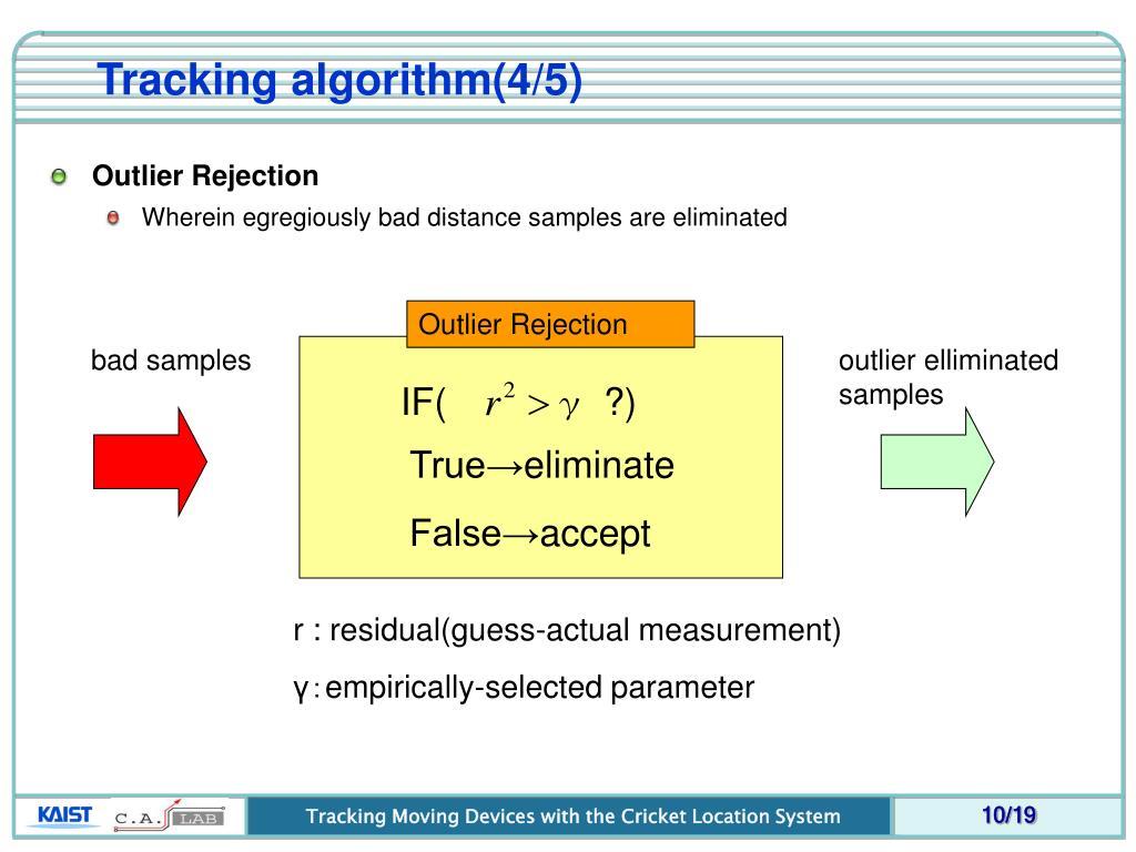 Tracking algorithm(4/5)