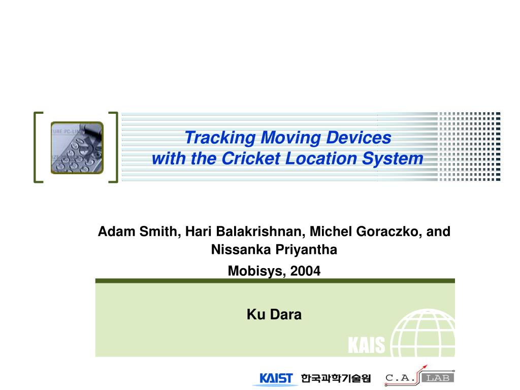 tracking moving devices with the cricket location system l.