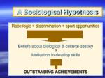 a sociological hypothesis