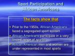 sport participation and african americans