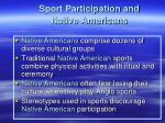 sport participation and native americans