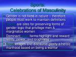 sports celebrations of masculinity