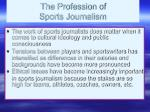 the profession of sports journalism