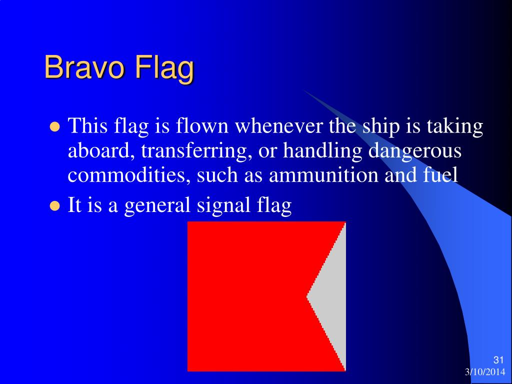 Bravo Flag