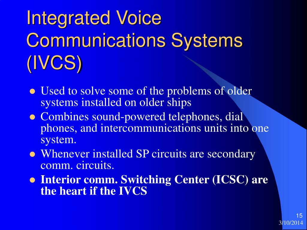 Integrated Voice Communications Systems (IVCS)