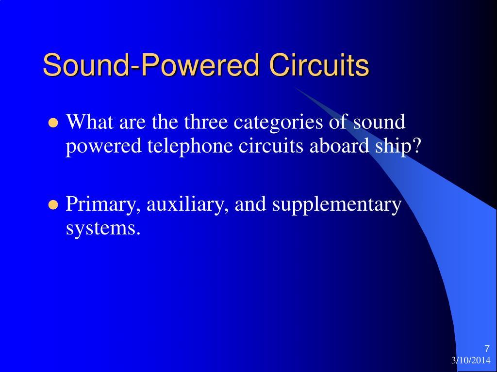 Sound-Powered Circuits