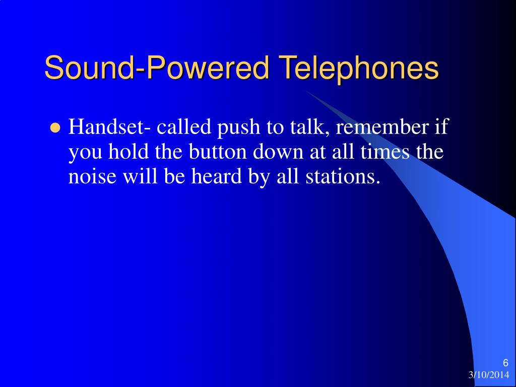 Sound-Powered Telephones