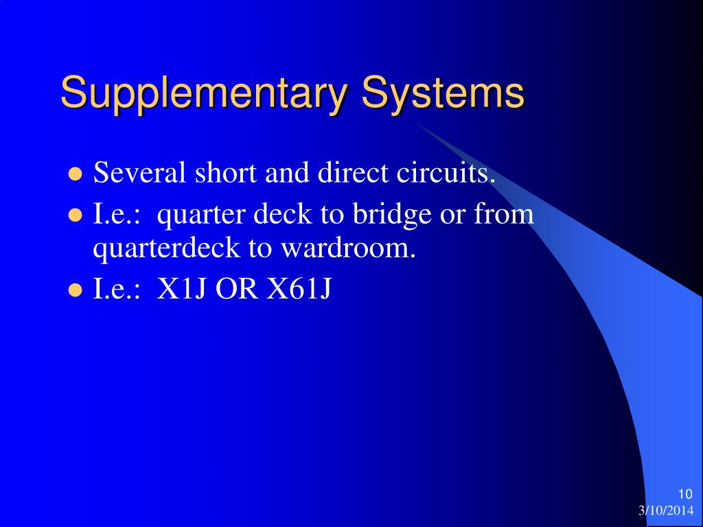 Supplementary Systems