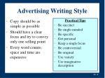 advertising writing style