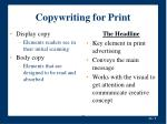 copywriting for print