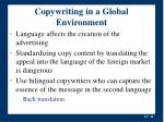 copywriting in a global environment