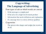 copywriting the language of advertising