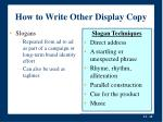 how to write other display copy10