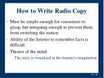 how to write radio copy