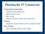 planning the tv commercial20