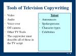 tools of television copywriting