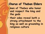 chorus of theban elders