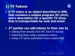 1 tv tokens