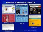 benefits of microsoft tokentv