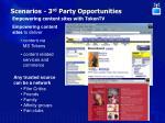 scenarios 3 rd party opportunities