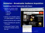 scenarios broadcaster audience acquisition