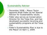 sustainability advisor