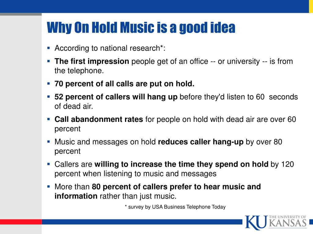 Why On Hold Music is a good idea