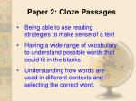 paper 2 cloze passages