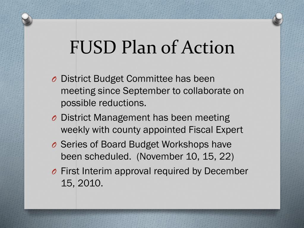 FUSD Plan of Action