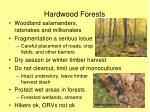 hardwood forests