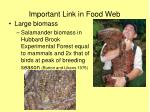 important link in food web