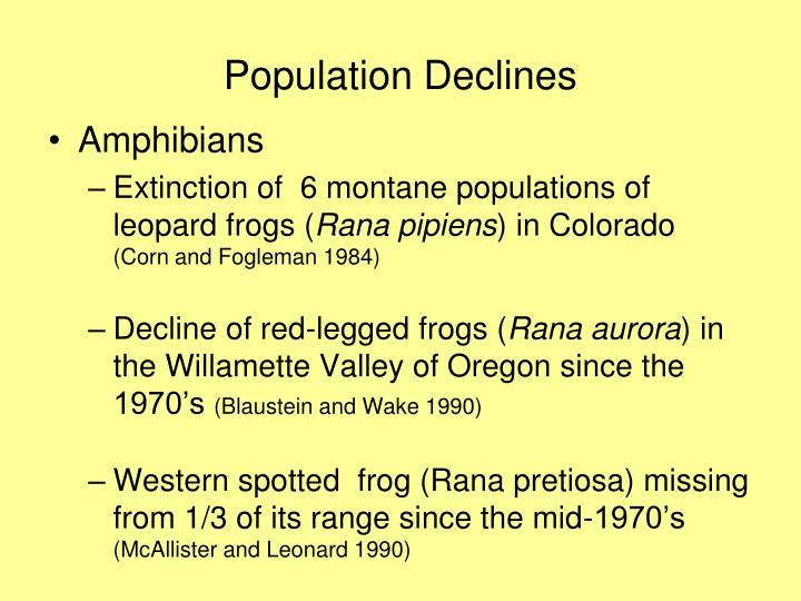 decline of amphibians essay The first part of this work consists of more than fifty essays covering topics from the causes of the evident decline of amphibian populations today is.