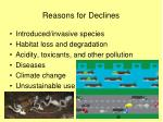 reasons for declines