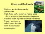urban and residential