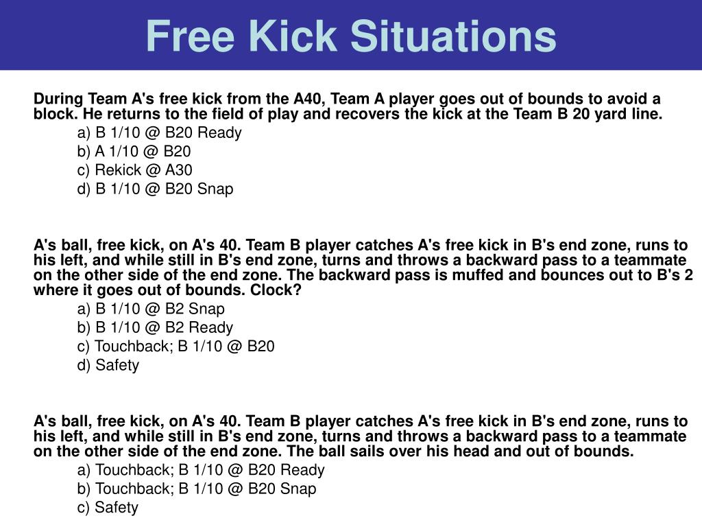 Free Kick Situations