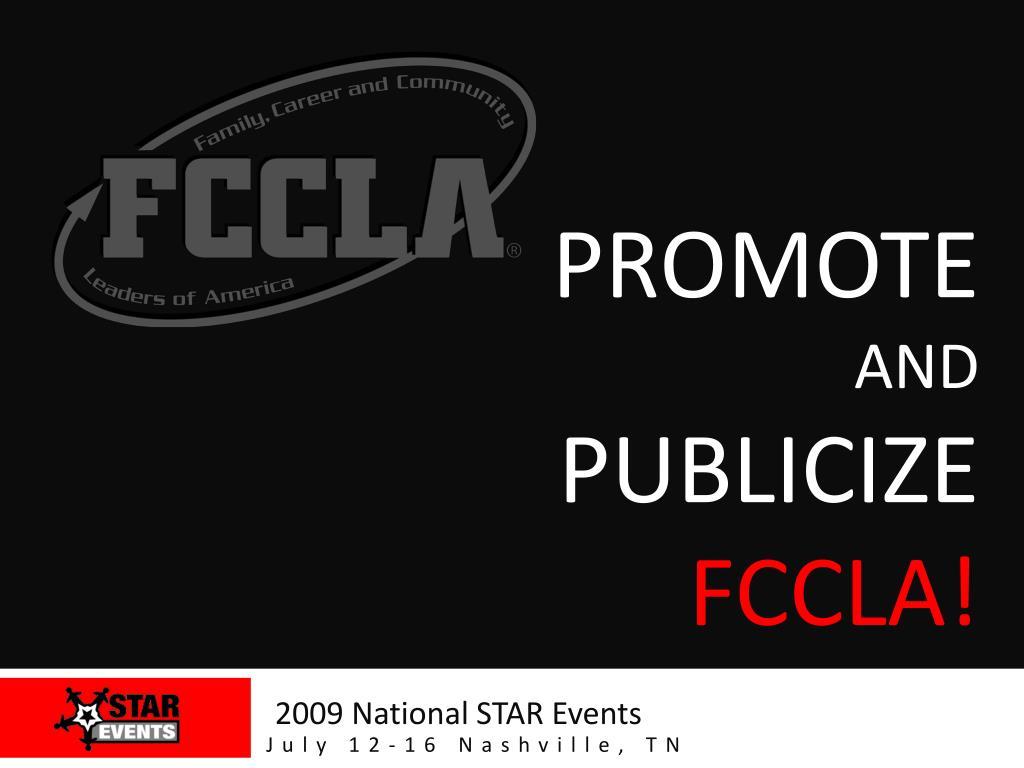 promote and publicize fccla l.